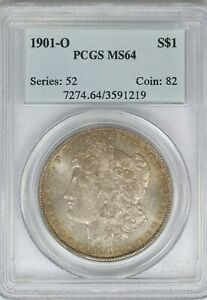 1901-O PCGS Silver Morgan Dollar MS64 Mint State Toned Semi-PL Coin