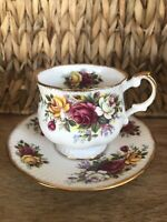 Tea Cup & Saucer Queen's Fine Bone China Made in England Rosina China Co Ltd