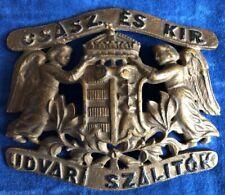 Metallschild Wappen K & K Monarchie Österreich Ungarn, Hoflieferant, Emblem, rar