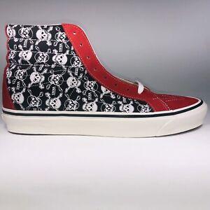 VANS SK8 HI Anaheim Factory Skull Bones Red Black Shoe Men Size 12 VN0A38GFX7Z1