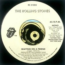 Rolling Stones 45 Promo Rock 1981 Waiting On A Friend Mono and Stereo Glossy M-