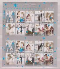NVPH Nederland V 2296-2305 sheet used Decemberzegels 2004 Netherlands