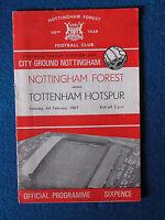 Nottingham Forest v Tottenham Hotspur Programme 4/2/1967