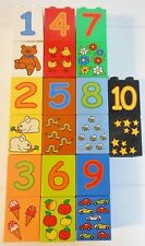 LEGO DUPLO 20 pc LOT PLAY NUMBERS SET COMPLETE 1-10 with Picture Counting Blocks