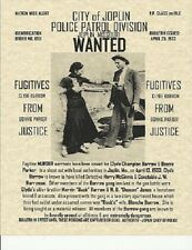 BONNIE AND CLYDE WANTED POSTER GANGSTER VINTAGE BARROW PARKER CLYDE BONNIE BANK