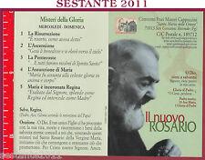 963 SANTINO HOLY CARD PADRE S. PIO DA PIETRELCINA MISTERI DELLA GLORIA