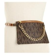 NWT Michael Kors Belt Bag MK Signature Logo Fanny Pack  Size Medium Brown