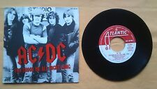 """AC/DC - YOU SHOOK ME ALL NIGHT LONG / HAVE A DRINK ON ME. 7"""" VINYL SPANISH"""