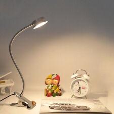 Light-dimmer LED Flexible Read Light Clip-on Bed Table Desk Lamp Silver