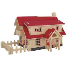 Kids Brilliant Toys 3D Wooden Puzzles DIY Assembled Western Style House