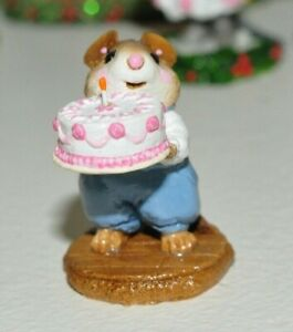 Wee Forest Folk M84 Happy Birthday boy blue