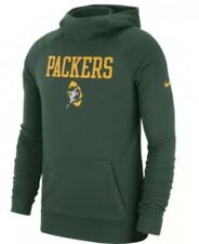 Nike Men's Green Bay Packers Lightweight Historical Hoodie Sweatshirt XL NFL