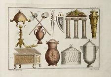 VASO URNA CASCO coltello mannaia oro bronzo romani CASSAPANCA candelabro Goldschmied ROM
