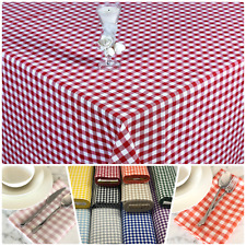More details for gingham check 1cm tablecloth kitchen dining table covers rectangle square round