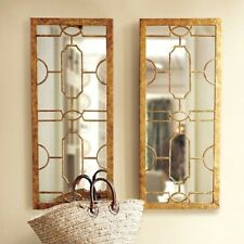 PAIR set  HAMPTON or french provincial style GOLD wall MIRROR   NEW