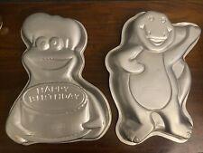 Cookie Monster WILTON Cake Pan Vintage Sesame Street Barney Cake Pan Lot Antique