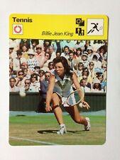 CARTE EDITIONS RENCONTRE 1977 / TENNIS - BILLIE JEAN KING