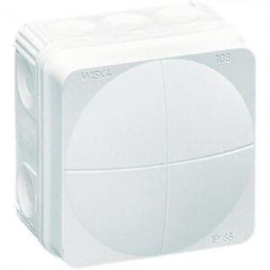 Wiska Combi WHITE 108 Outdoor Electric Junction Box Weatherproof IP66 76x76x51
