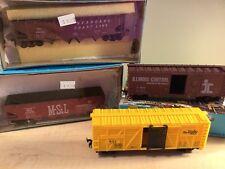 Lot/4 HO Scale Vintage Life-Like Model Trains Seaboard, MSt.L, Katy, Illinois