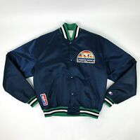 VTG NBA Denver Nuggets Navy Blue Starter Jacket Size Large