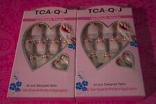 TCA.Q.J AIRBUSH NAILS 24 PCS DESIGNED Acrylic Nail tips LOT OF 2 USA SELLER #12