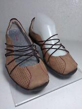 Privo Clarks 61578 Womens 7M Slip On Elastic Cord Brown Comfort Walking Shoes