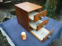Stunning Antique Shannon Oak Cabinet - 3 Drawers with Original Shannon Inserts