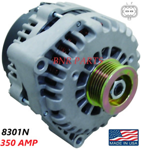 350 AMP 8301N Alternator High Output Chevy GMC Hummer Cadillac 2 pin NEW HD