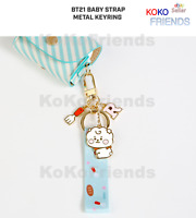 BTS Baby BT21 Official Character Strap Metal Keyring Key Chain KPOP Authentic MD
