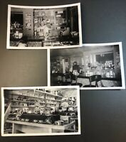 1940's Vintage Photo of Diner Waitress and Appliance Store Lot of 3
