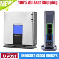 2018 UNLOCKED CISCO LINKSYS PAP2T PAP2T-NA SIP VOIP Phone Adapter 2 Port Gateway