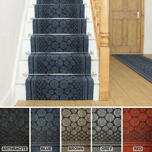 Non Slip Hard Wearing Rubber Back Entrance Pebbles Design Mats - Stair Runners