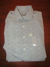 mens van heusen traveler casual dress shirt L 16-16.5 x 32/33 nwt asphalt gray