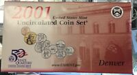 2001 UNITED STATES MINT UNCIRCULATED COIN SET PHILADELPHIA AND DENVER