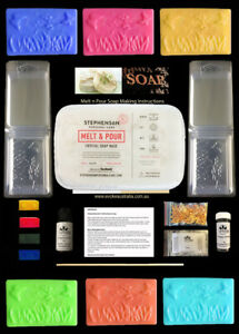 Spring Soap Making Kit with Colour, Fragrance & 10 Spring Shaped Moulds