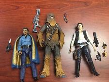 Star Wars Black Series Chewbacca Lando Calrissian Han Solo Loose Complete