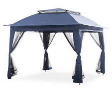 Wilson & Fisher Navy Blue Pop-Up Canopy with Netting 11' x 11' New Freeshipping