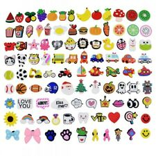 US Stock 100PCS Different Shape Shoe Charms Ornaments For Croc Jibitz Wristbands