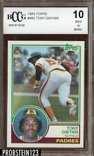 1983 Topps #482 Tony Gwynn RC Rookie BCCG 10 HOF Padres Centered