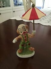Clown Figurine Porcelain with Umbrealla-Darling
