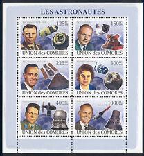 Comoro Islands - 2009 s/s of 6 Astronauts #1049 cv $ 12.50 Lot # 57