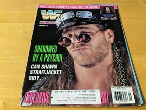 HBK SHAWN MICHAELS WWF MAGAZINE Wrestling September 1995 Issue Sycho Sid RARE