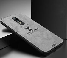 For OnePlus 6T 6 5T Luxury Slim Fabric Texture Soft Shockproof Case Cover