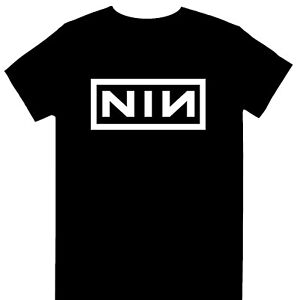 Nine Inch Nails - Classic NIN White Logo Official Licensed  T-Shirt