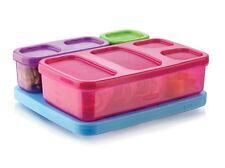 RUBBERMAID LUNCH BLOX NEW FOOD STORAGE KIDS 4 PIECE SET PINK PURPLE W/ BLUE ICE
