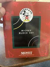 Mickey Block Set By Midwest Cannon Falls