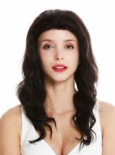 Ladies' Wig Human Hair Lace-Front Long Nature Braun Undyed Wavy