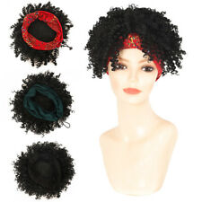 Afro Curly Wigs Headband Wigs for Women Synthetic Natural Curly Hair Wrap Wigs