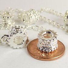 Safety Chain Threaded Screw Stopper Lock Bead for Silver European Charm Bracelet