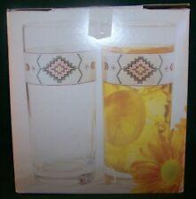 "Studio Nova Adirondack ~ 15 Oz. Set Of 4 Cooler Water or Tea Glass 6 1/8"" In Box"